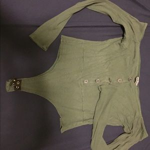 Olive green bodysuit